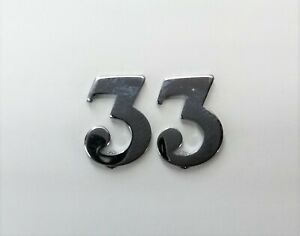 Genuine British Military Police Issue Snap Pin Shoulder Numeral Number Three 1PR