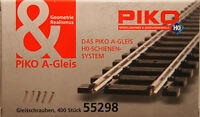 Piko 55298 Ho / Oo 10mm de Long Rail Fixation Vis Noir X Têtes About 400