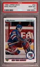 1990 UPPER DECK #32 MIKE RICHTER RC RANGERS PSA 10 H2421806-551