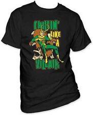 Authentic Loki Chillin Like A Villain Avengers Thor Marvel Comics Shirt M