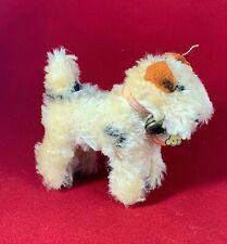 "Vintage Steiff Miniature ""Foxy"" Fox Terrier Miniature Dog - Paper & Yellow Tags"