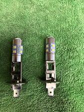 2x H1 448 Bulb 10 SMD LED Chip Projector Head Fog Daytime Running Light White UK