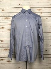 Jos. A. Bank Reserve Large Blue Button Front Long Sleeve Shirt