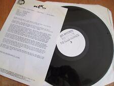 """The Black Prophets  – Fax On Wax 12"""" VINYL WHITE LABEL PR SHEET EX C HIP HOP"""