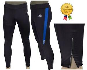 New Mens Sports Athletic Runner Resist Leggings Black