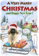 "Pekingese Dog A6 (4"" x 6"") Christmas Card (Blank inside) Design by Starprint"