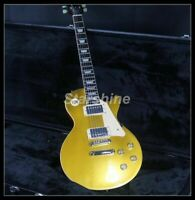 Standard LP Electric Guitar Gold Top Solid Mahogany Body Natural Back And Side