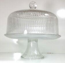 Rare Vintage Beautiful Large Crystal Cake Display • Cake Stand • Dessert Server
