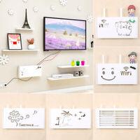 Smile Storage Box Wireless Wifi Router Organizer Shelf Wall Hanging Bracket  HA