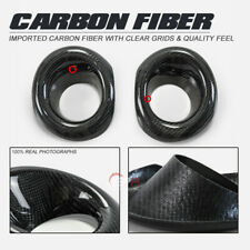 Carbon Fiber For Honda Civic FK8 Glossy Front Fog light cover trim Body kits