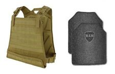 Body Armor | Bullet Proof Vest | AR500 Steel Plates | Base Frag Coating- CPC TAN