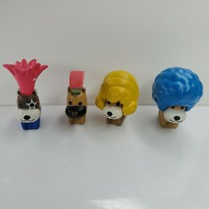 4 San-X Mini Figures Afro Ken Blue And Yellow US SELLER