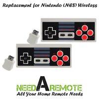 2x Wireless Video Game Remote Controller for Nintendo NES Mini Classic Edition