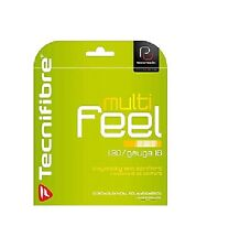 Tecnifibre Multi-feel Tennis String Set - 16 / 1.30mm, Pearl Grey