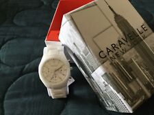New in box CARAVELLE  by BULOVA Women's CERAMIC Quartz Watch-! FREE SHIPPING!