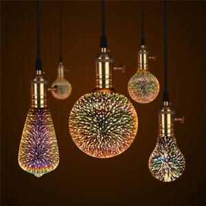 holder Ball light Home Decoration Glass 3D Fireworks Bulb Edison  Party Lamp