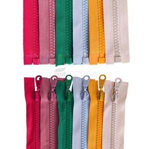 30 COLOURS NYLON ZIP ZIPPER CHUNKY Jacket ZiP /OPEN ENDED PLASTIC ZIP
