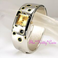 Retro Polka OMAX 2tone Silver & Gold SEIKO Movt Swiss BRAND Bangle Watch Bae016