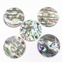 5 PCS 30mm Round Coin Natural Green Abalone paua Shell Earring Pendant Making