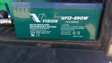 USED VISION 200Ah for HIGH RATE Usage AGM Deep Cycle Batteries OFF GRID