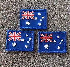 Lot of 3 Australia Flag Iron On or sew On Badges - Australian Flag Patch