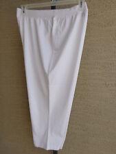 New Taillissime Capri Length Leggings stretch knit 1X 22-24W White MSRP $26.
