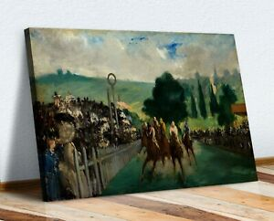 CANVAS WALL ART  PAINTING PRINT ARTWORK Edouard Manet The Races at Longchamp