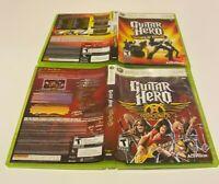 Guitar Hero: World Tour & Aerosmith Game Lot Microsoft Xbox 360 COMPLETE TEEN