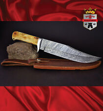 Damasacus hunting knives 057 Damascus Bowie KingForge, Bush knife carbon steel