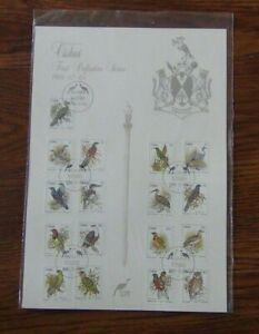 Ciskei 1981 Birds set on new issue card Fine Used