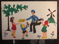 1946 Netherlands PostCard Cover Thank You USA Child For Liberation from Nazis 4
