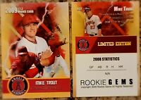 Mike Trout 2009 Limited Edition Custom Rookie Trading Card Los Angeles Angels