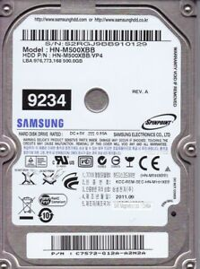 Samsung HN-M500XBB   pn:C7572G12AA2N2A   500Gb  USB 2.0   B24-11