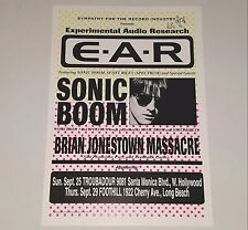 BRIAN JONESTOWN MASSACRE SONIC BOOM POSTER CONCERT PRINT SPACEMEN 3 punk lp 45