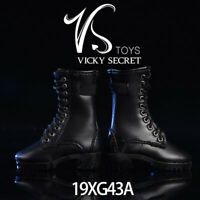 VSTOYS 1/6 Black Zipper Boots Shoes 19XG43A F 12'' Female Action Figure Toy Gift