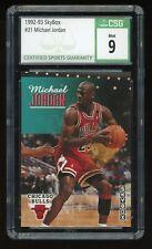 1992-93 Skybox Michael Jordan #31 Chicago Bulls HOF CSG 9 Mint