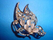 ~ Beautiful Crystal Opal Butterfly Style Pin/Brooch ~
