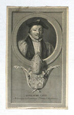 GUILLAUME LAUD, archevesque Canterbury, gravure ancienne, Wander Werff, Audran