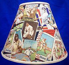 Vintage Looking Baseball Theme Handmade Lampshade Lamp Shade