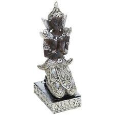 Thai Buddha Kneeling Medium 23cm Silver Gold Statue Ornament Figurine