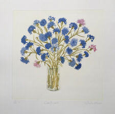 """SHEILA OLINER 1930-2020 St Ives """"Cornflowers"""" limited edition ETCHING ed 15/100"""