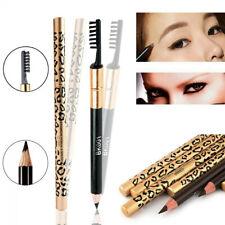 Make Up Leopard Long Lasting Eyeliner Eyebrow Pencil Pen With Brush Waterproof