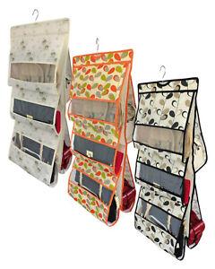 Wardrobe Storage Hanging Handbag Organiser 6 Pockets Shelf Bag Storage Holder