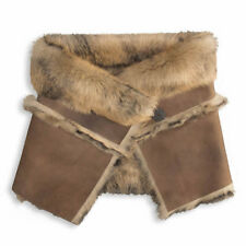 UGG Scarf Foxley Collar Snood Sheepskin Shearling Chocolate Bomber NEW $550