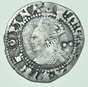 ELIZABETH I HALFGROAT (1600), mm. 0, BRITISH SILVER HAMMERED COIN FINE