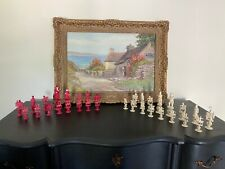 Antique  Very Find EARLY 19TH CENTURY CHINESE   NAPOLEON CHESS SET Bone