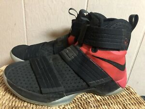 Nike LeBron Soldier 10 SFG Bred Black/Black University Red Sz 10 844378-006