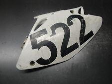 03 2003 HONDA CRF450 CRF 450 R MOTORCYCLE BODY PLASTIC WHITE SIDE PANEL LEFT