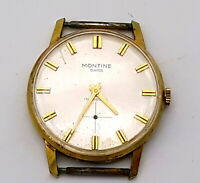 Montine Incabloc Swiss watch, rolled gold.