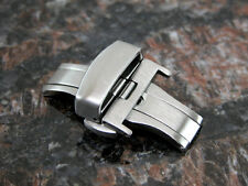 20MM Deployment Buckle Double Clasp BRUSHED Stainless Steel